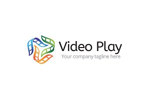 Video Play Logo Design Template