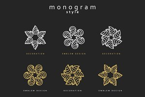 Set of elegant monogram design