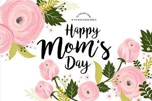 mother's day template vector