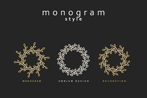 Elegant emblem design.