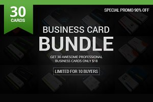 30 Business Card Bundle