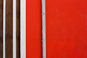 Red wall. Minimalistic shot.