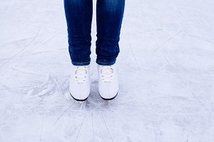 Woman ice skating