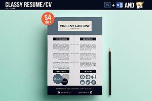 Resume/CV Photoshop & Word Template