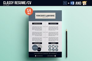 Resume/CV Photoshop & Word Template