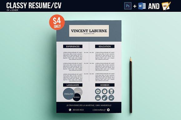 resumecv photoshop word template resumes - Photoshop Resume Template