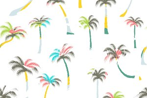 Pattern of palm trees