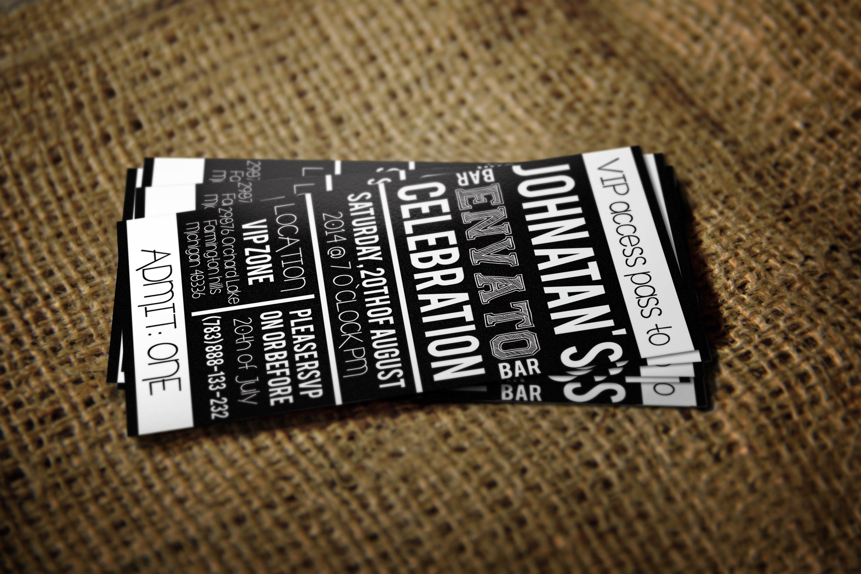 Pass card Photos Graphics Fonts Themes Templates Creative Market – Vip Ticket Template