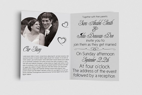 Wedding Invitation Card Sample: Wedding Invitation Card Template
