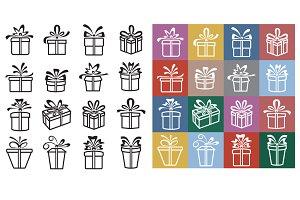 Gift Box Icons.