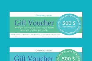 Vector gift voucher blue