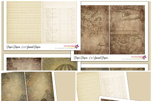 DIY Steampunk Printable Journal Kit