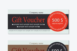 Vector gift voucher clean design