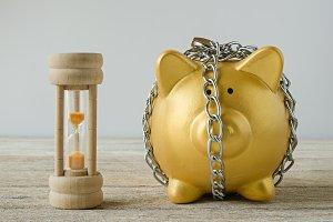 Gold Piggy bank
