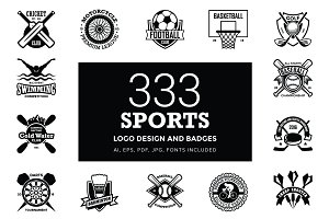 333 Sports Logo Designs and Badges
