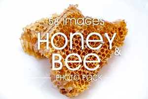Honey and bees - photo pack