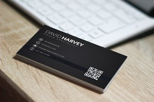 Black Deluxe Business Card - PSD