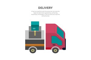 Delivery Lorry Driving