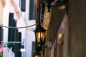Street lamps, Venice,Italy (Vertical