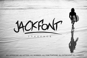 Jackfont Script Typeface | 2$!!