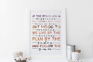 Life At The Beach Wall Art Print