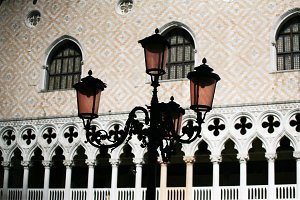 Street lamps, Venice