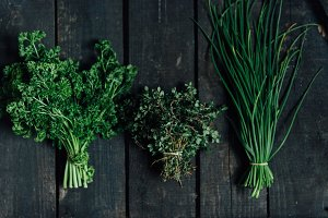 Herb photo bundle, food