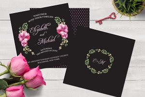 Watercolor Wedding Invitation Set