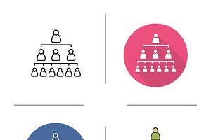 Company hierarchy icons. Vector