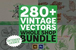 Vintage Vectors Mega Bundle