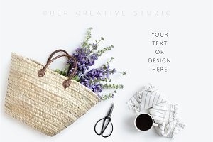 Styled Stock Image with Market Tote