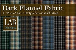 30 Dark Flannel Fabric Textures