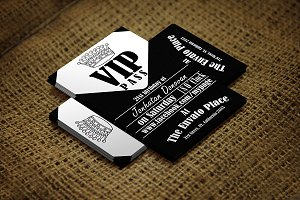 Retro VIP Pass Card