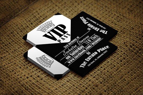 Retro VIP Pass Card Card Templates on Creative Market – Free Vip Pass Template