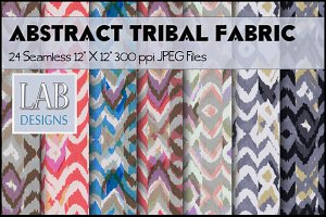 24 Abstract Tribal Fabric Textures