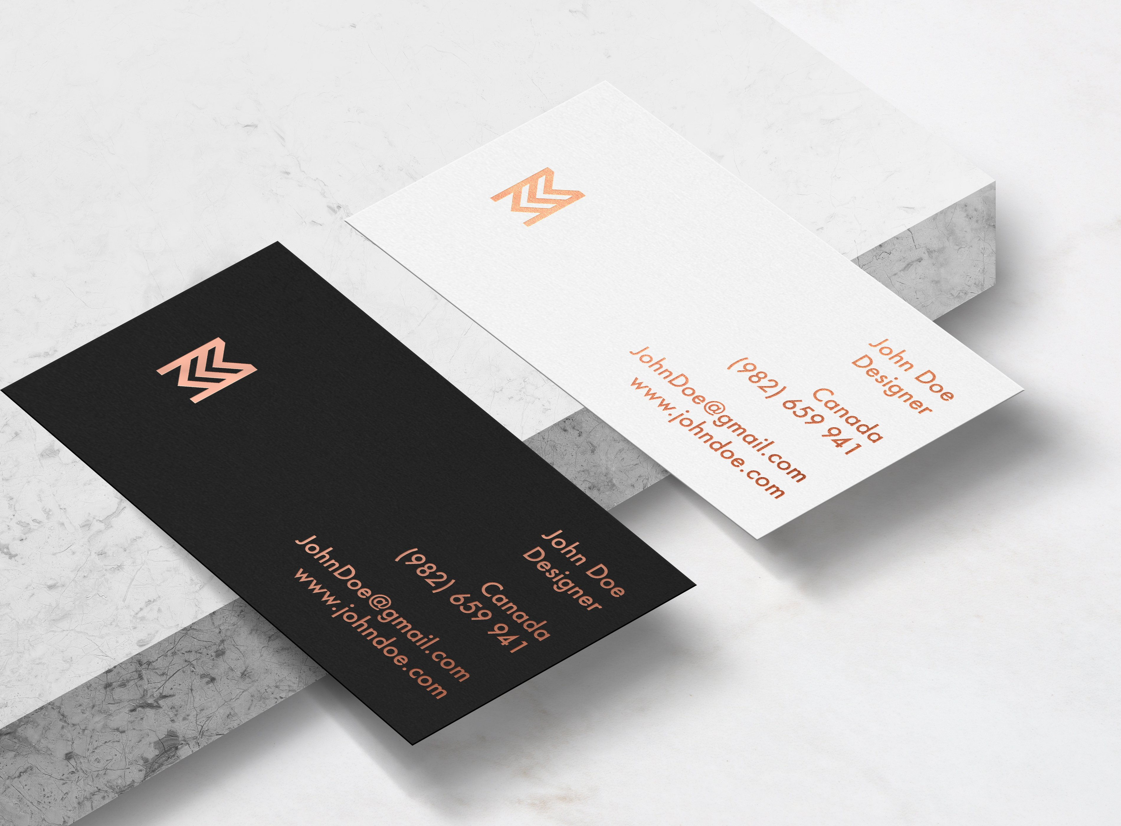 Elegant business card mockup product mockups creative market reheart