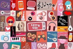 Entertainment Art Collage