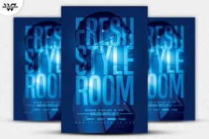 FRESH STYLE ROOM Flyer Template