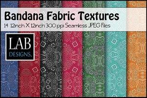 14 Bandana Pattern Fabric Textures