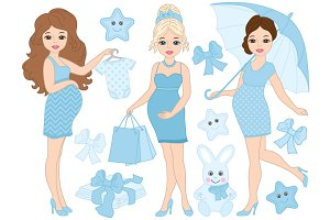Pregnant Women Set - It's a Boy!