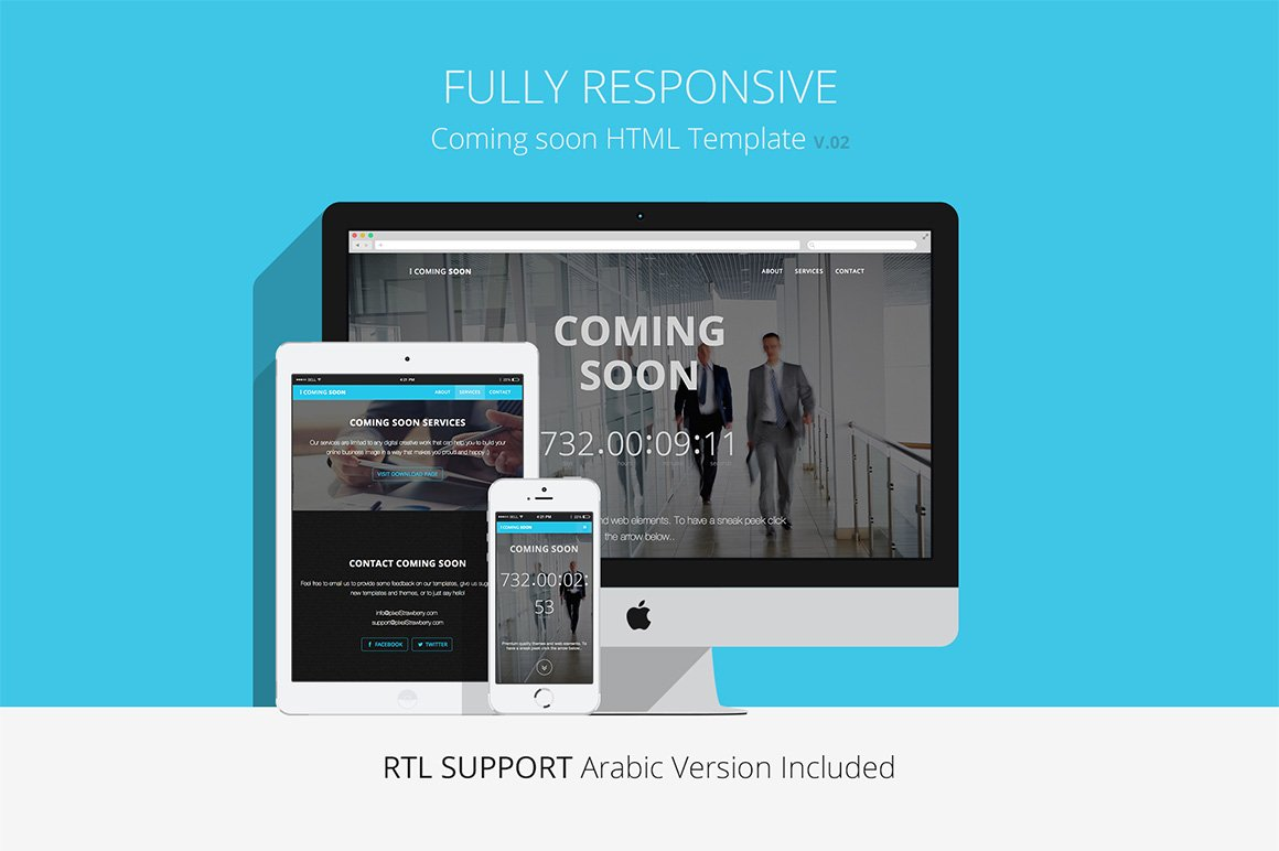 responsive coming soon website html bootstrap themes creative market