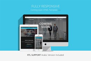 Responsive Coming Soon Website HTML