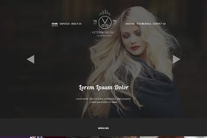 Hair Salon PSD Website Template