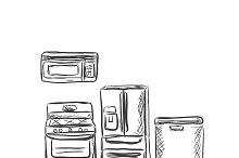 kitchen household appliances