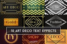 Art Deco Text Effect