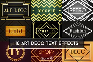 Art Deco Text Effect