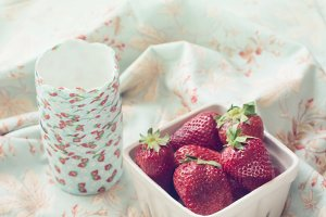Fresh ripe strawberries
