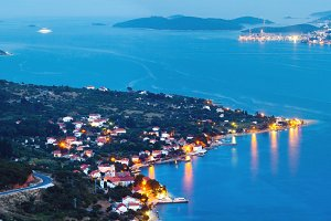 Night Croatian Peljesac peninsula