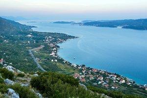 Sea sunset coastline (Croatia)