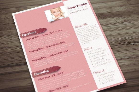 sophisticated lady cv resume templates creative market